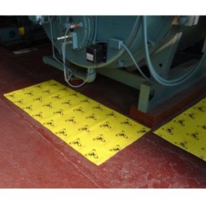CAUTION MAT: Hi-Visibility Safety Absorbent